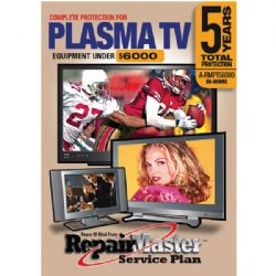 REPAIR MASTER PLASMA A-RMPT56000 5-Year In-Home Television Warranty Service Plan Plasma Television (Total 5 Years)