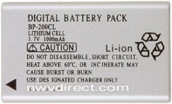 Minolta By Digital Concepts NP-200 Lithium Ion Battery For Minolta Dimage© Cameras (3.7 Volt, 1000 Mah)
