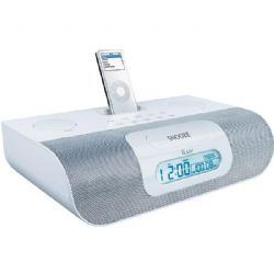 iLuv iPod� Stereo Docking System with Dual Alarm -White