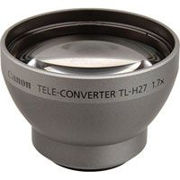 Canon TL-H27 27mm 1.7x Telephoto Converter Lens for Canon Optura, Elura 100 Digital Video Cameras