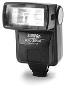 Sunpak Auto 355 AF TTL Shoe Mount Flash (Guide No. 86'/26 m at 35mm) for Pentax AF
