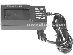 Canon CA-910 Compact AC Power Adapter / Charger - for XL-1 and GL-1 Camcorders, BP-915, BP-930 and BP-945 Batteries