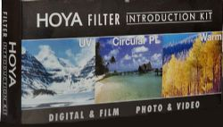 Hoya 34 mm Introductory Filter Kit - Ultraviolet (UV), Circular Polarizer, Warming Filter (Intensifier) and Nylon Pouch