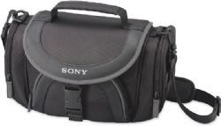 Sony LCS-X30 Soft Carrying Case for Camcorders (Black with Grey Trim)