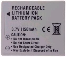 Canon By iConcepts NB-5L Lithium Ion Battery For Canon Powershot� Cameras (3.7 Volt, 1150 Mah)
