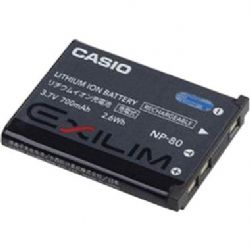 Casio NP-80 Rechargeable Lithium-Ion Battery (3.7V, 700mAh)